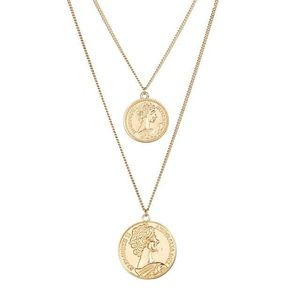 Double Layered Vintage Coins Necklace